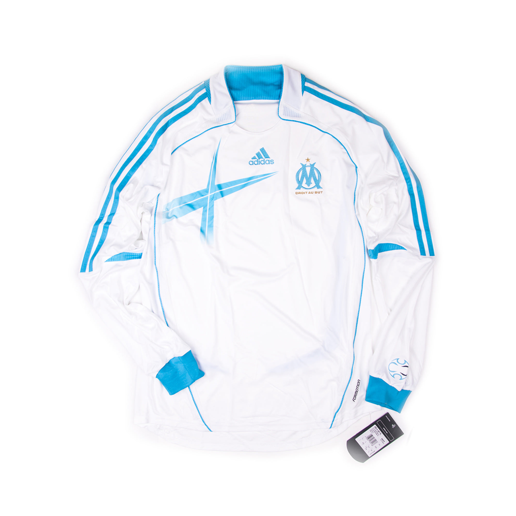 OLYMPIQUE MARSEILLE 2006-07 AWAY L/S JERSEY (Player Issued, BNWT)