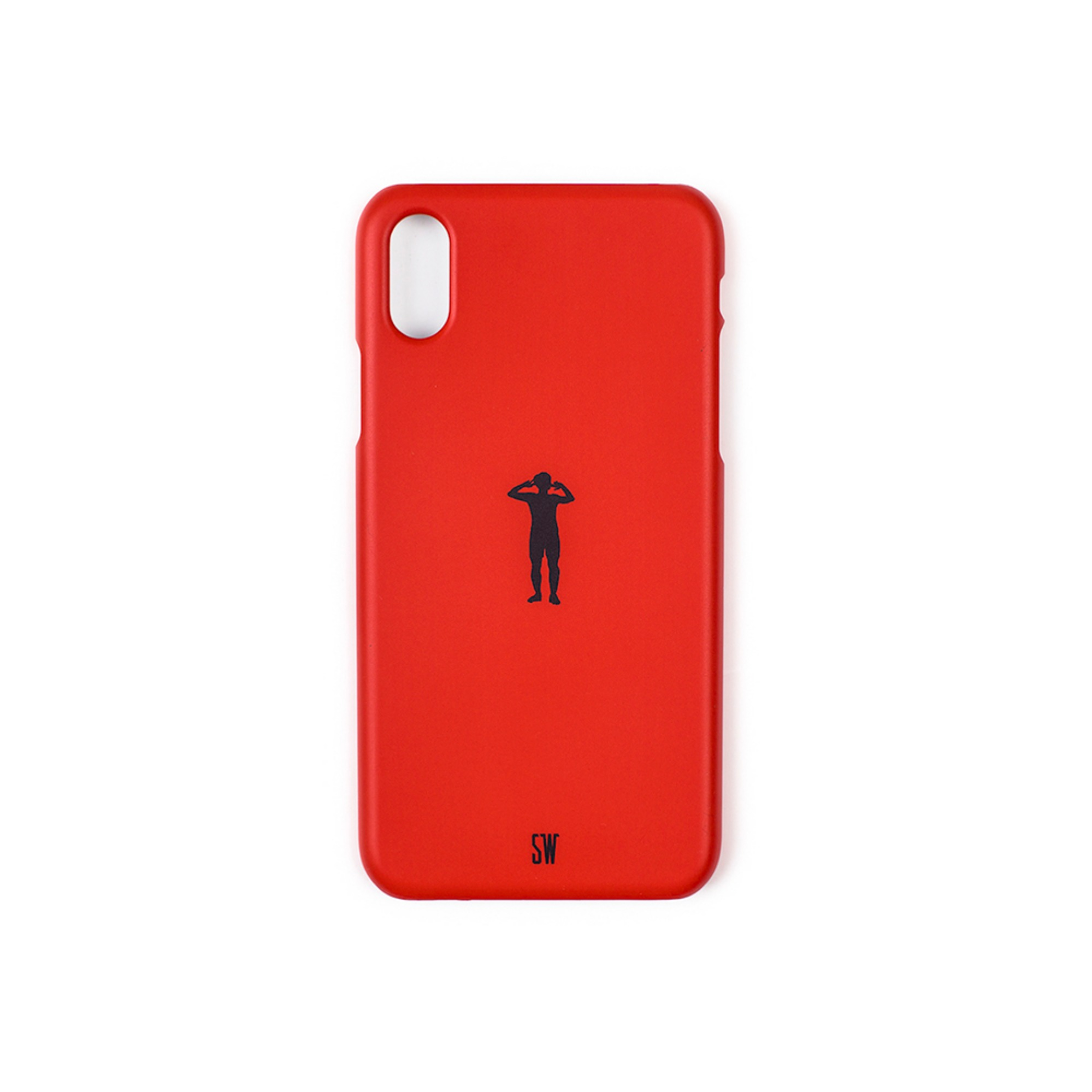 'SEUNGWOOLEE' SMARTPHONE CASE - 'SW' SILHOUETTE (RED)