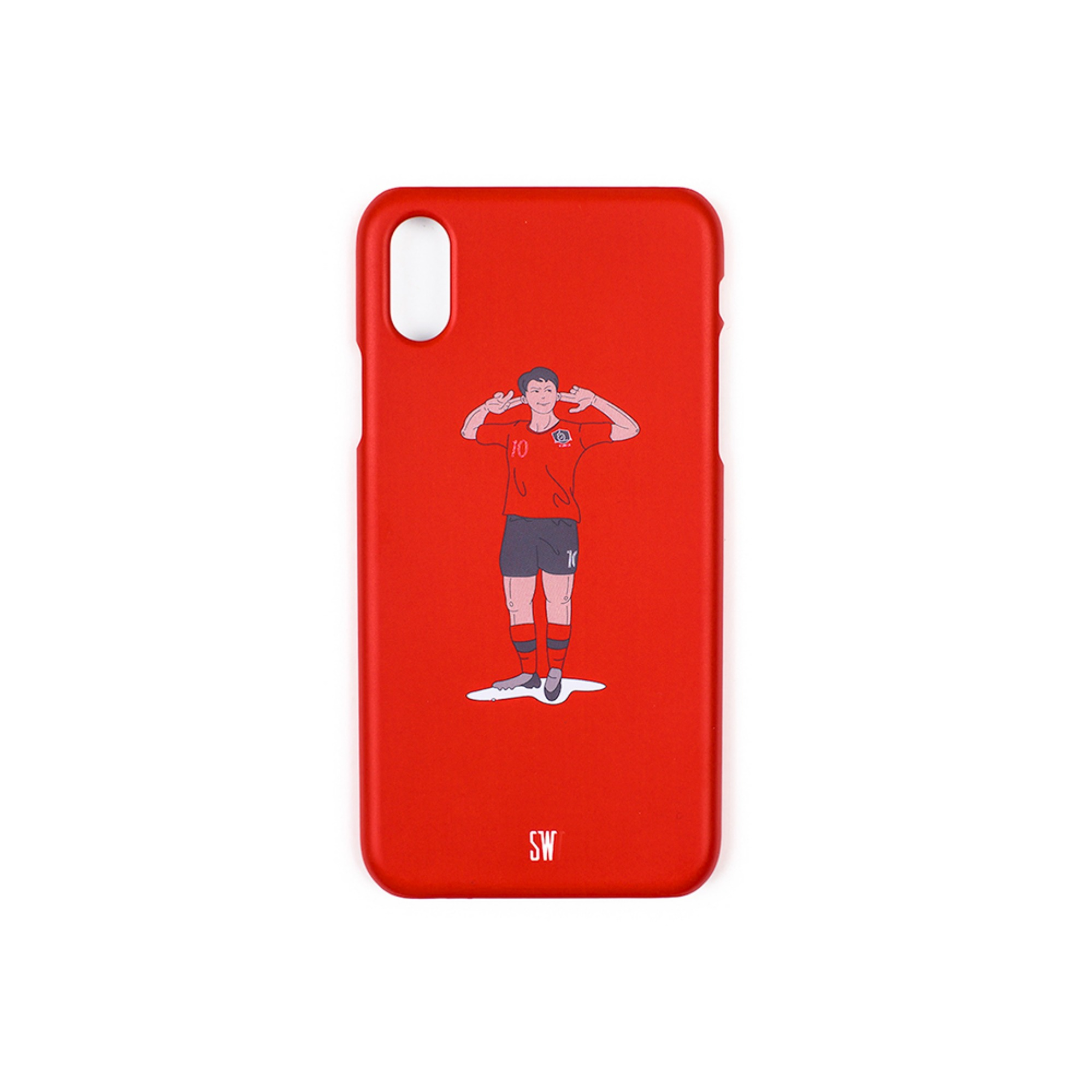 'SEUNGWOOLEE' SMARTPHONE CASE - 'SW' ILLUSTRATION (RED)