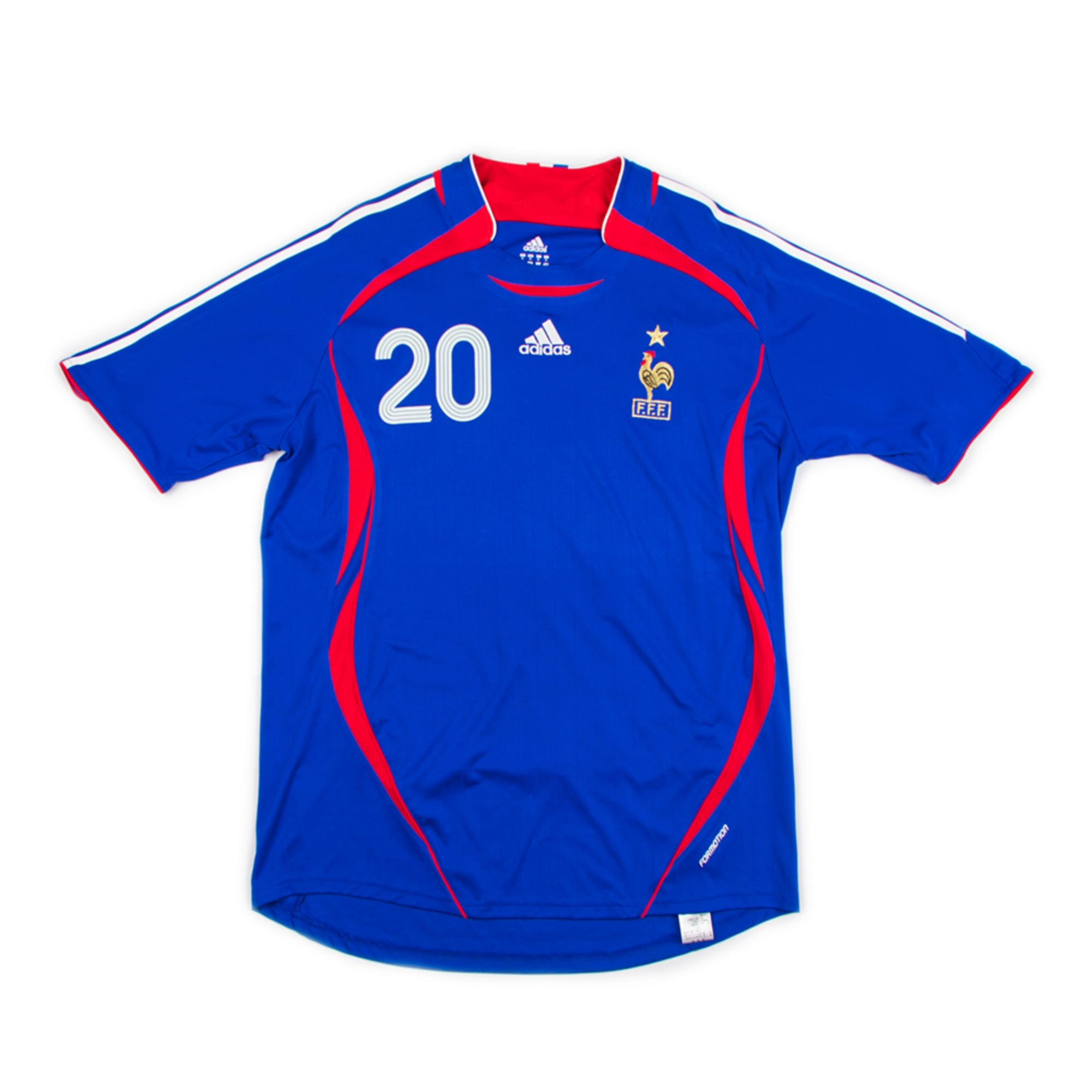 FRANCE 2006-08 HOME JERSEY S/S #20 TREZGUET