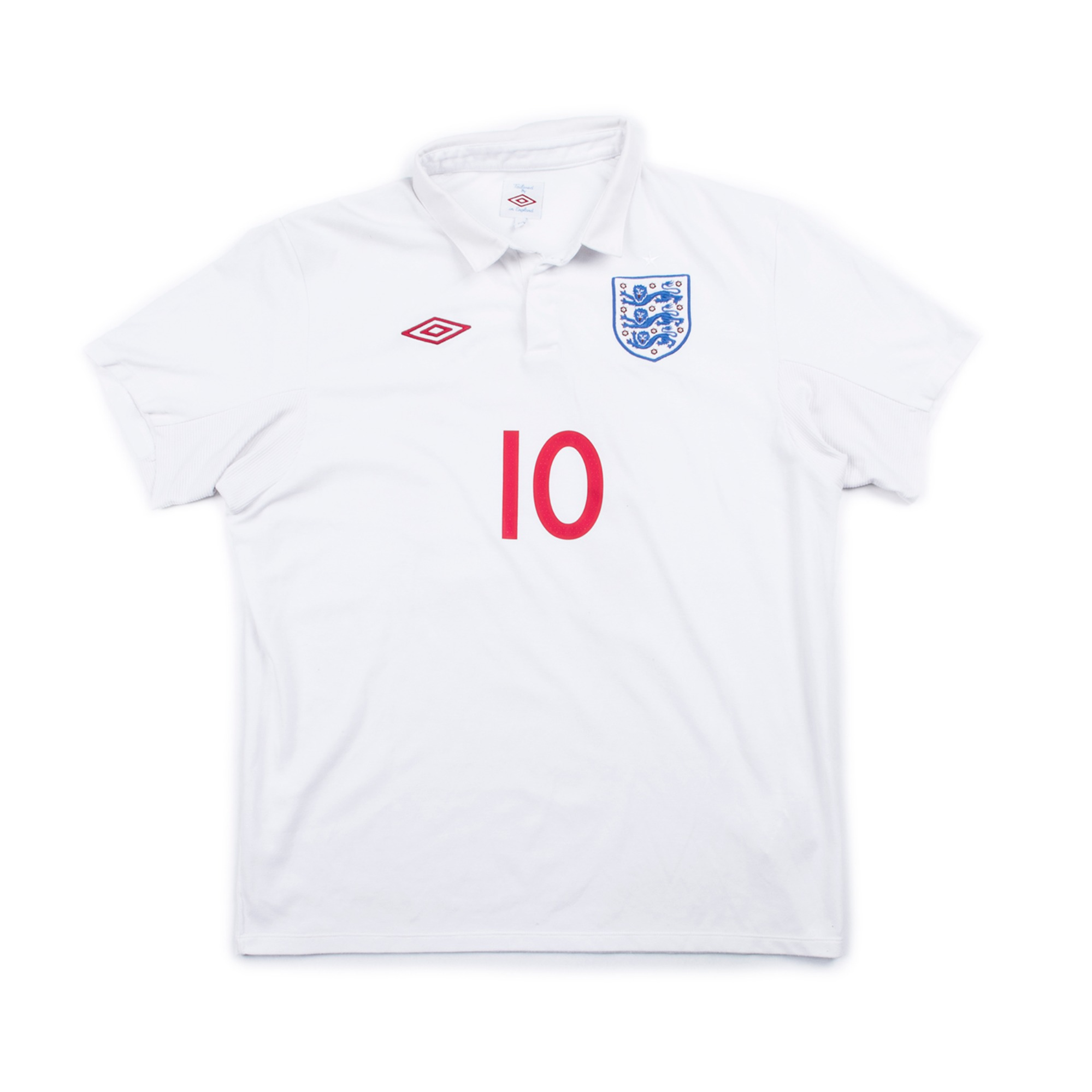 ENGLAND 2010-12 HOME JERSEY S/S #10 ROONEY