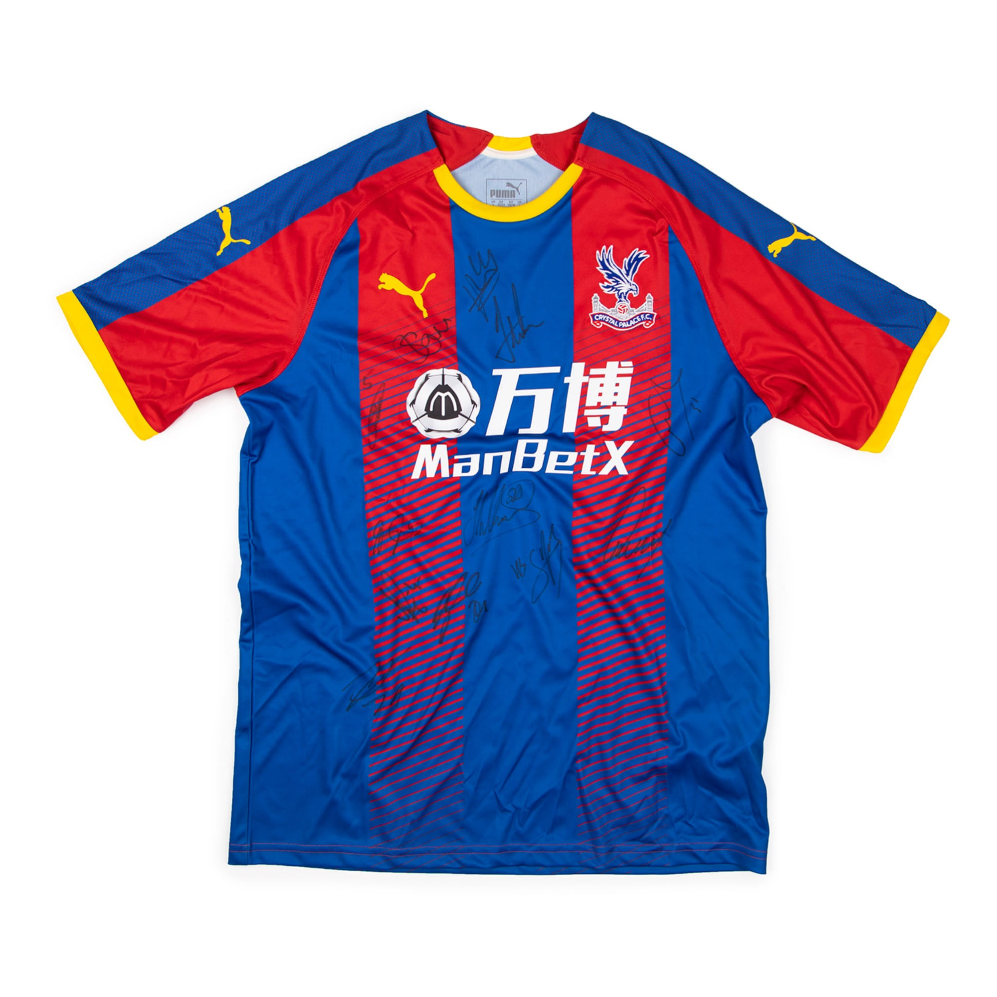 CRYSTAL PALACE 18-19 HOME SQUAD SIGNATURE JERSEY