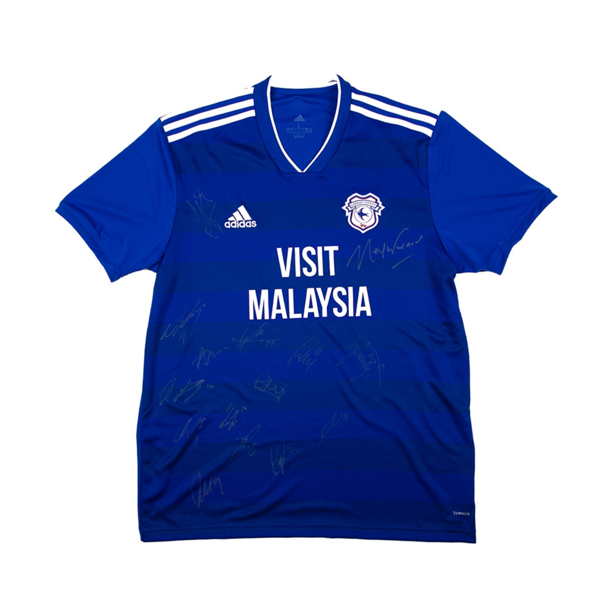 CARDIFF CITY 18-19 HOME SQUAD SIGNATURE JERSEY