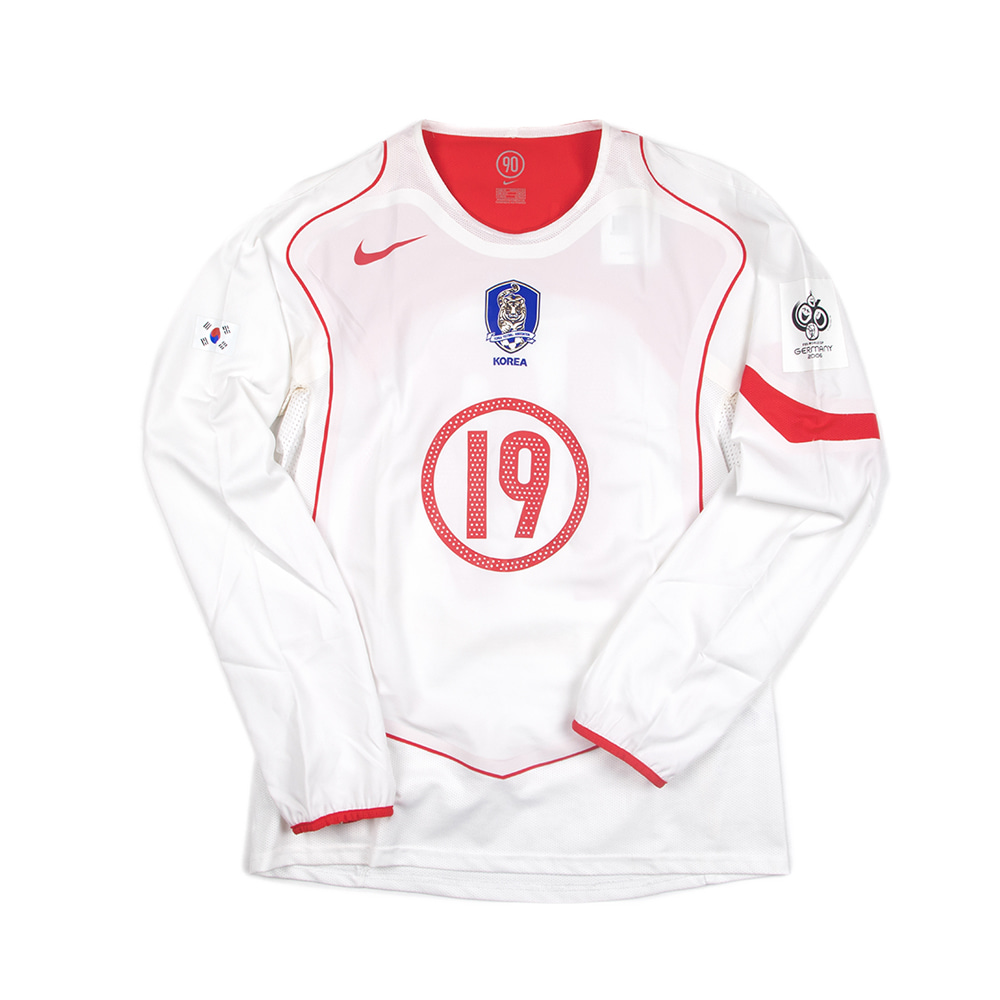 KOREA REPUBLIC 04-06 AWAY L/S #19 J.H.AHN(AUTHENTIC)