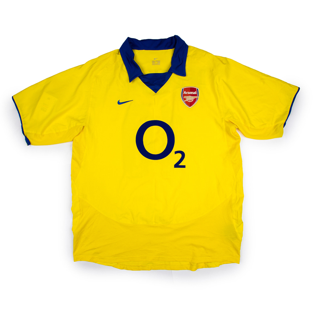 ARSENAL 03-04 AWAY S/S #10 BERGKAMP
