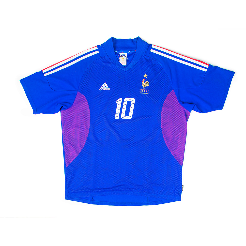 FRANCE 02-04 HOME S/S #10 ZIDANE