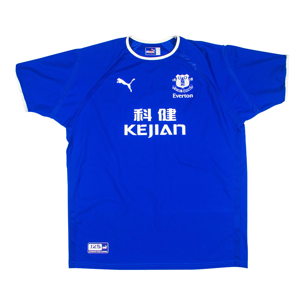2002-2003 EVERTON HOME S/S #18 ROOENY