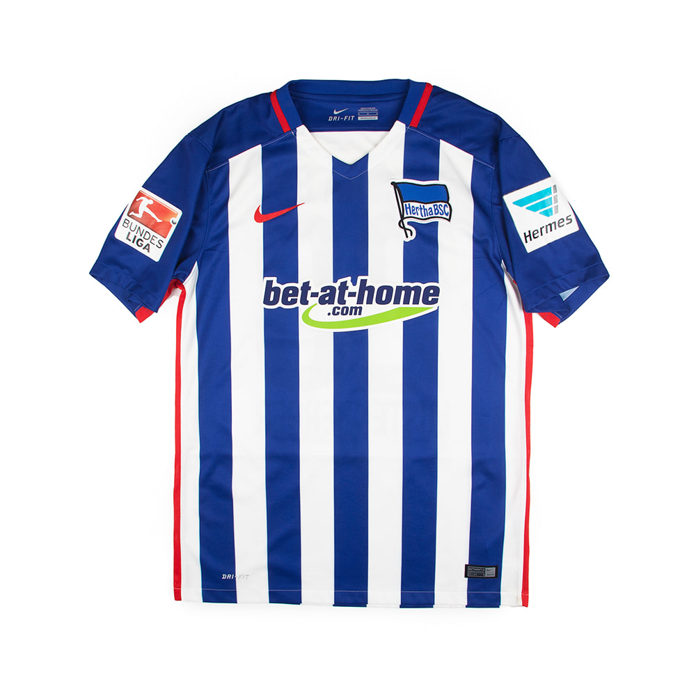 2015-2016 HERTHA BSC HOME S/S #28 LUSTENBERGER