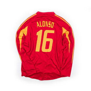 SPAIN 2004-05 HOME L/S #16 ALONSO (Player Issued, BNWT)