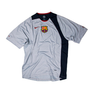 FC BARCELONA 2004-05 TRAINING TOP S/S (BNWT) - GREY