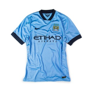 MANCHESTER CITY 2014-15 HOME S/S (BNWT, Player Issued)