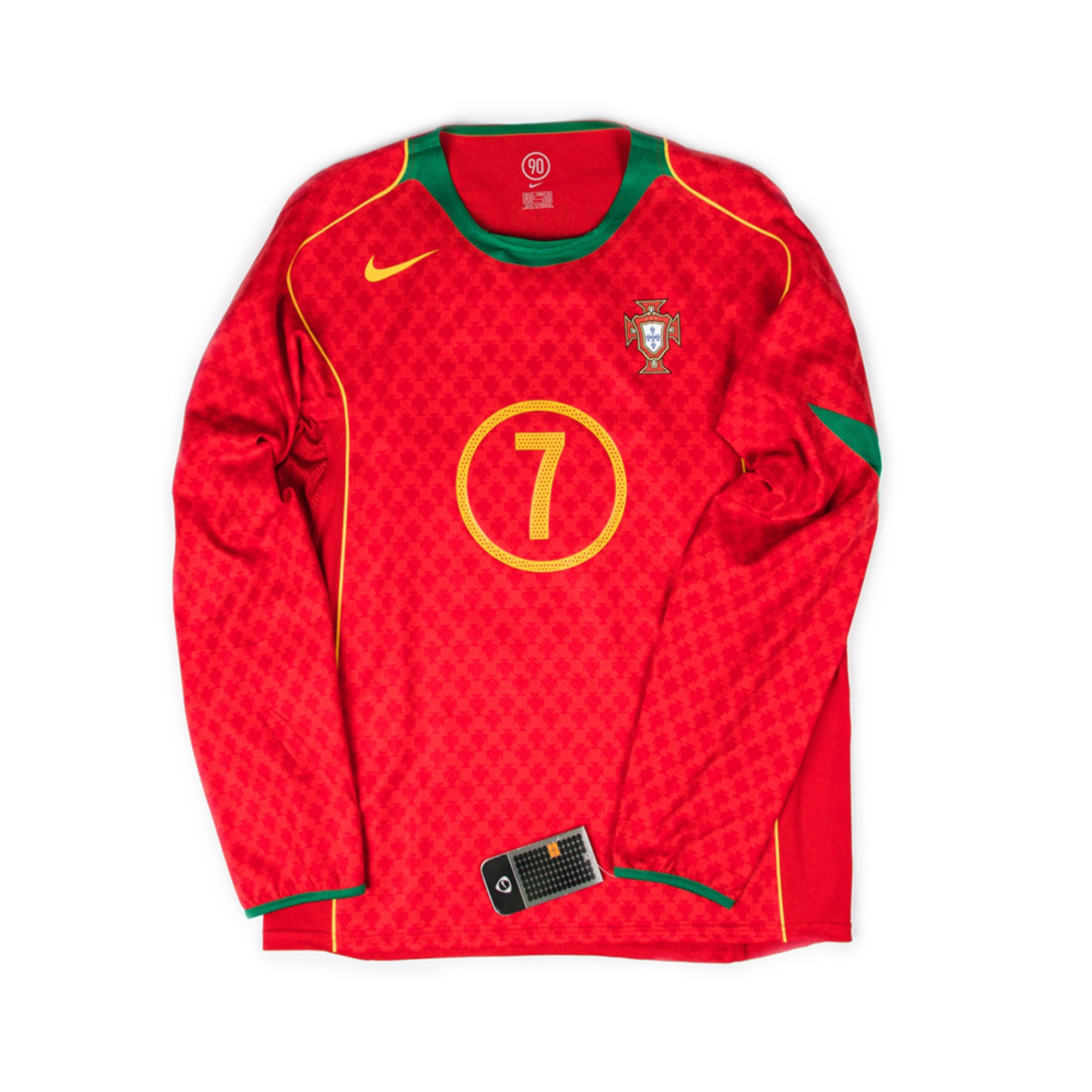 PORTUGAL 2004-06 HOME L/S #7 FIGO(PLAYER ISSUE,BNWT)