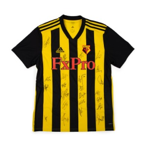 WATFORD 18-19 HOME SQUAD SIGNATURE JERSEY
