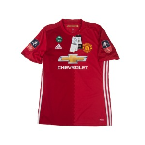 MANCHESTER UNITED 16-17 HOME S/S #23 SHAW (AUTHENTIC,BNWT)