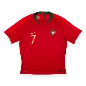PORTUGAL 18-20 HOME S/S #7 RONALDO (AUTHENTIC,W/Tag)