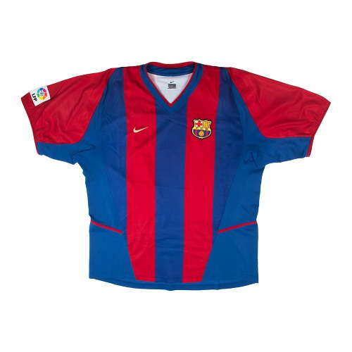 2002-2003 BARCELRONA HOME S/S #5 PUYOL