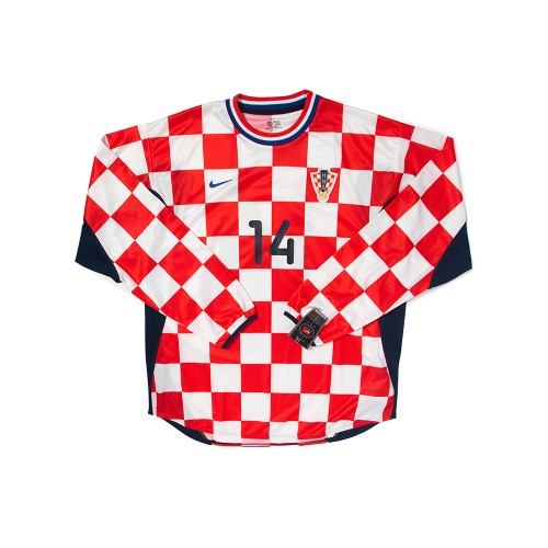 Croatia 2000-2001 HOME L/S XL #14 SUKER W/TAG
