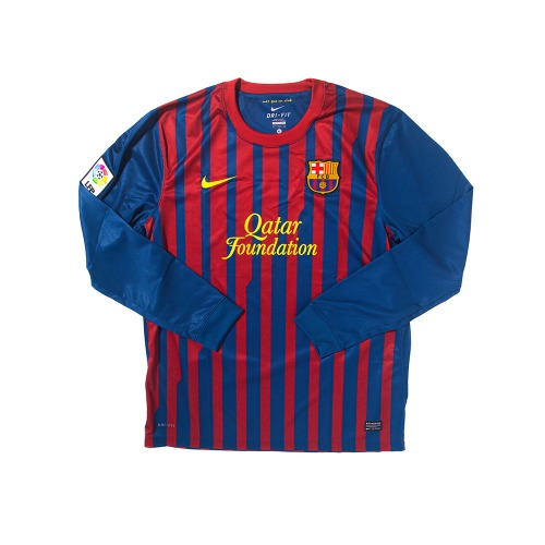 Barcelona 2011-2012 HOME L/S XL #8 A.INIESTA