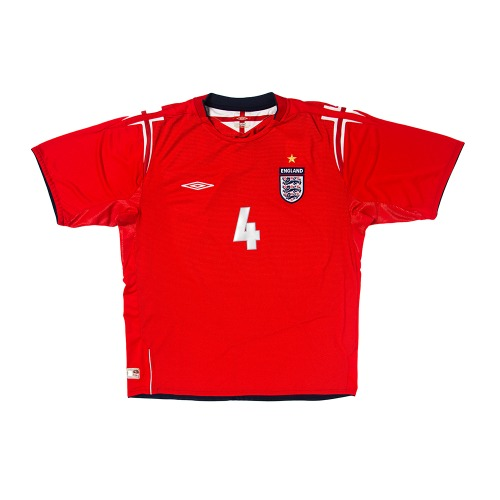 England 2004-2006 AWAY S/S XL #4 GERRARD