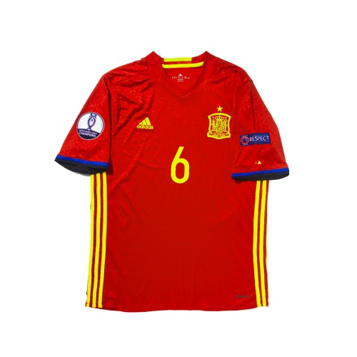 Spain 2016-2017 HOME S/S XL #6 A.INIESTA
