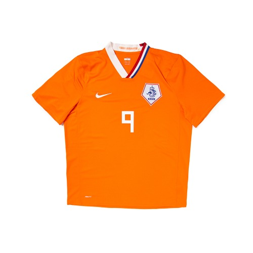 Holland 2008-2010 HOME S/S XL #9 V.NISTELROOY