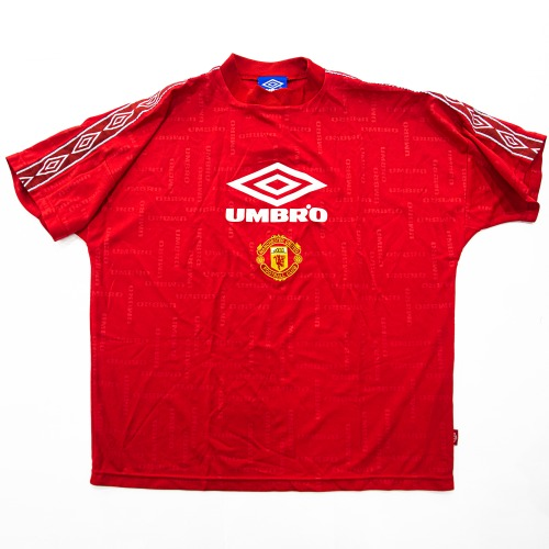 MANCHESTER UTD 1990S TRAINING SHIRT RED L
