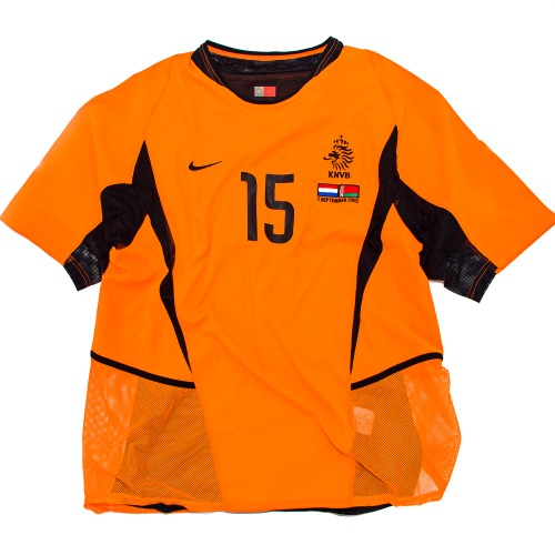 HOLLAND 2002-2004 HOME S/S (PLAYER ISSUED) L #15 VAN DER VAART