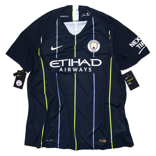 MANCITY 2018-2019 AWAY S/S AUTHENTIC XXL #4 KOMPANY (W/TAG)