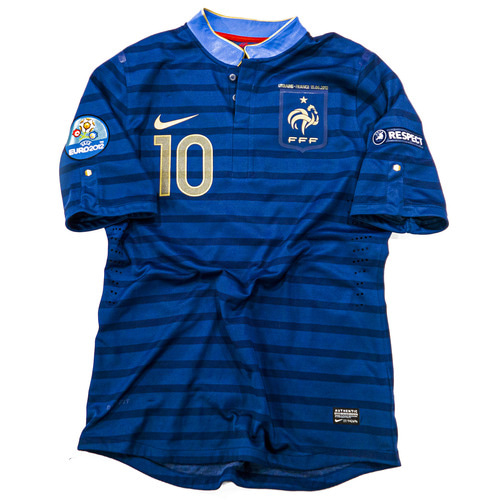 FRANCE 2012 HOME S/S L AUTHENTIC #10 BENZEMA