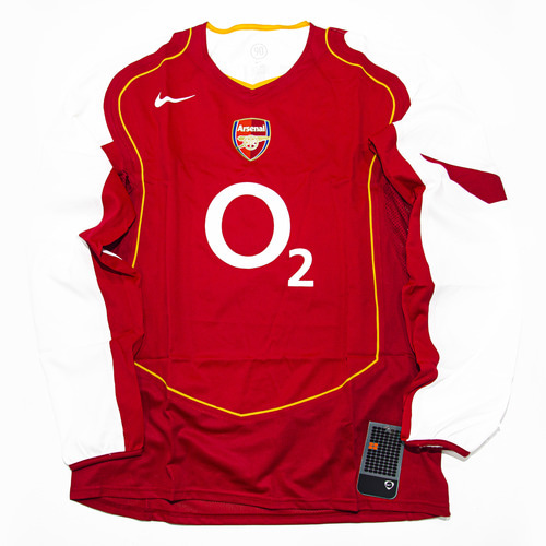 ARSENAL 2004-2005 HOME L/S XL CODE7 #14 HENRY (W/TAG)