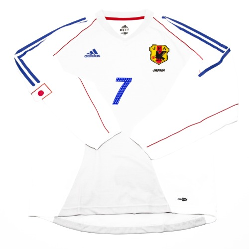Japan 2002-2004 AWAY L/S L #7 NAKATA (W/TAG)